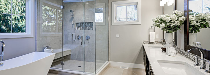 moderne badkamer Denderleeuw